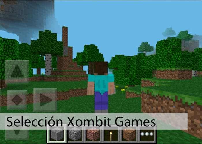 Jugando a Minecraft Pocket Edition