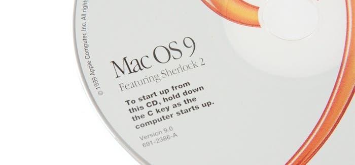 Detalle CD instalación Mac OS 9