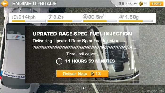 Opciones de mejora de nuestro coche