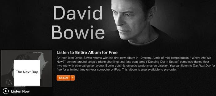 Disco David Bowie gratis