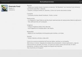 Actualización de Evernote Food 2.1 para iPad y iPhone