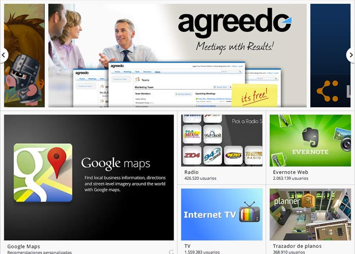 Captura Google web store