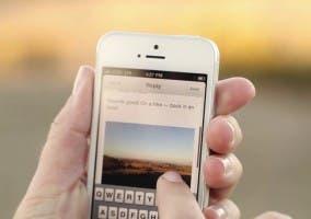 Mailbox para iPhone enviando una imagen