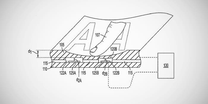 Patente dispositivo flexible de Apple