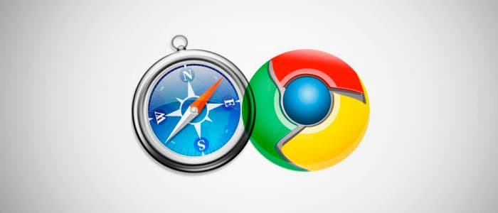 Enfrentamiento Safari y Chrome