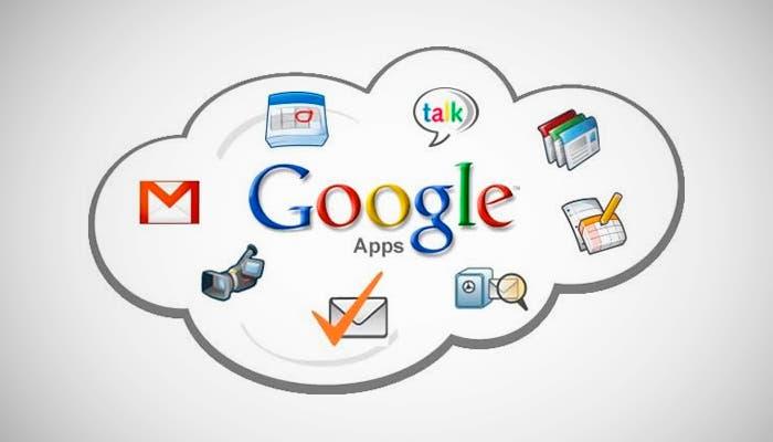 Diferentes servicios de Google