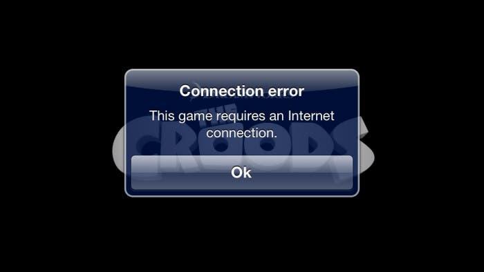 No es posible jugar a The Croods sin conexión a Internet