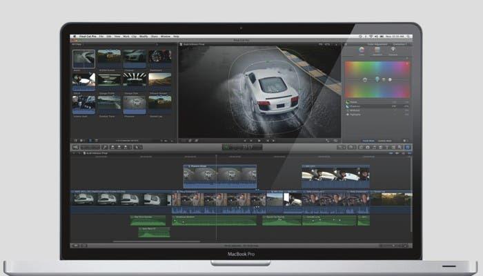Final Cut Pro X en un MacBook Pro
