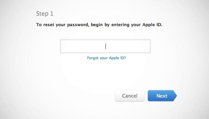 Fallo encontrado en la página de restablecimiento de contraseñas de Apple