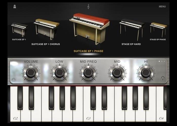 Aplicación de piano eléctrico para iPad