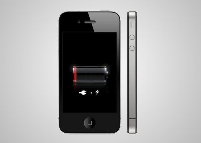 iPhone con icono de batería baja