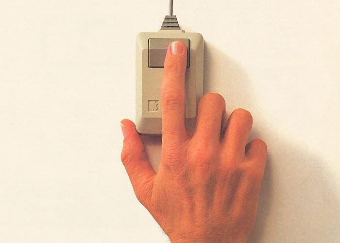 Haciendo clic con el ratón del Macintosh