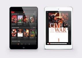 Aplicación de los comics de Marvel para el iPad