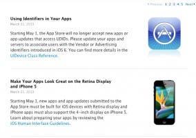 Apple dejará de aceptar apps que usen UDID