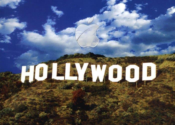 Log de Apple sobre el cartel de Hollywood