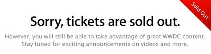No hay más entradas para la WWDC 13