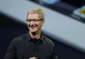 Tim Cook durante alguna de las tan famosos keynotes de Apple