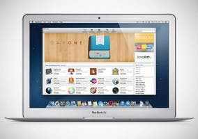 Fondo de la Mac App Store sobre un MacBook Air