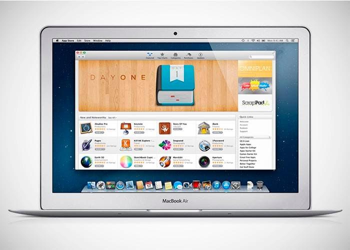 Fondo de la Mac App Store sobre un MacBook Air