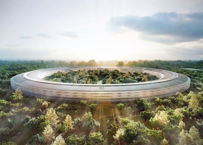 El futuro reciente campus de Apple