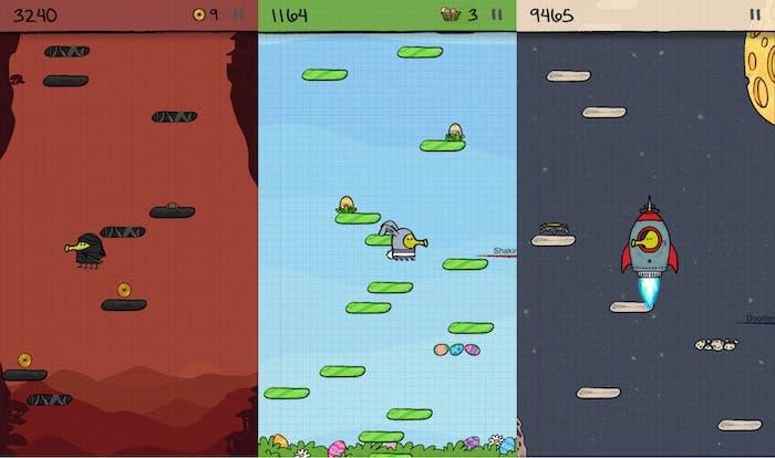 Jugando a Doodle Jump en iPhone 5