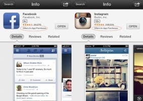 Bug en la App Store que muestra compras en Instagram y Facebook