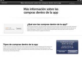 Información de compras integradas en las aplicaciones