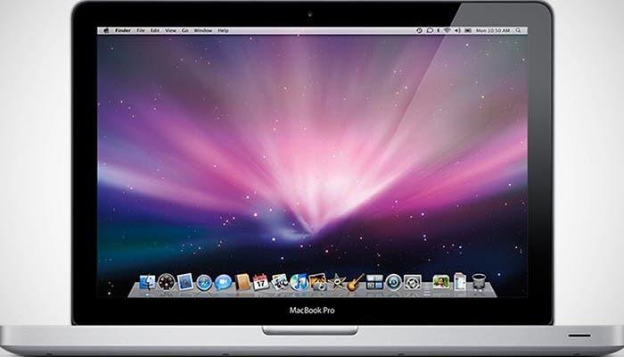 Imagen frontal del Macbook Pro de 13 pulgadas