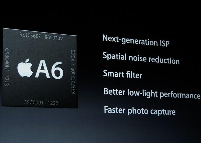 Información del chip A6 de Apple