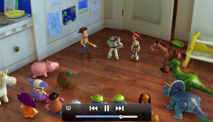 Imagen de la reproduccion de video del iPad