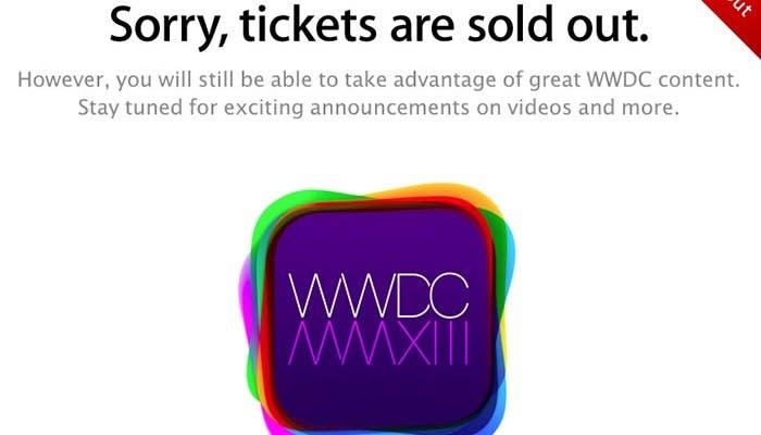 Se agotan las entradas de la WWDC 2013