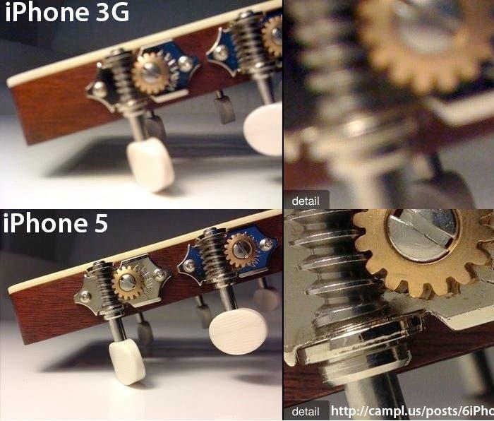 Comparativo fotográfica iPhone 3G vs. iPhone 5