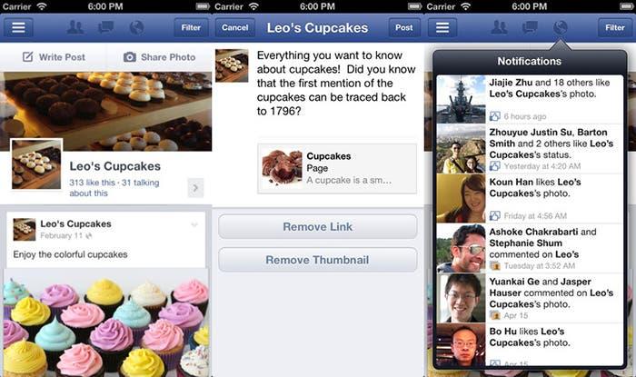 Capturas de Facebook Pages Manager