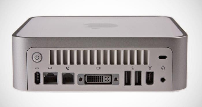 Vista trasera del Mac mini G4