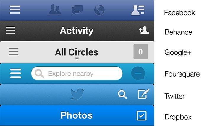 Mejores interfaces de las aplicaciones actuales