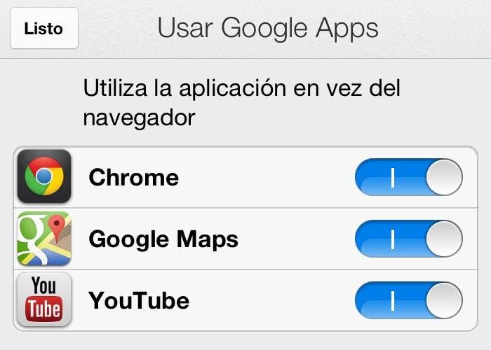 Aplicaciones predeterminadas en Gmail