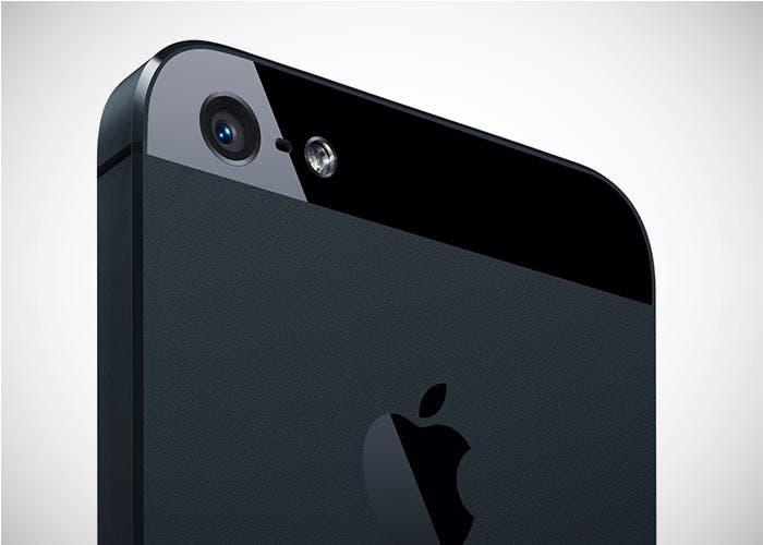 Trasera con vista a la cámara del iPhone 5