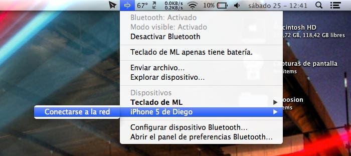 Conectarse el iPhone por Bluetooth