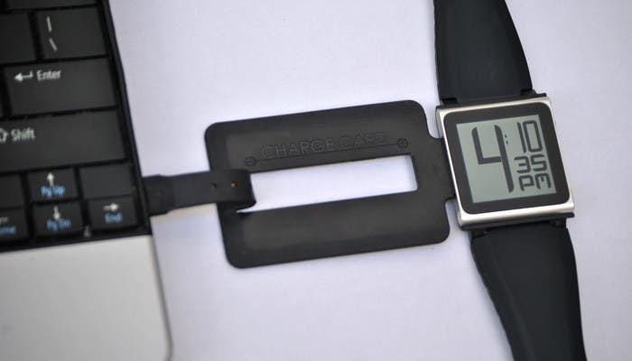 ChargeCard cargando el iPod