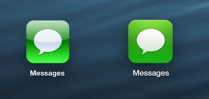Evolución del icono Mensajes