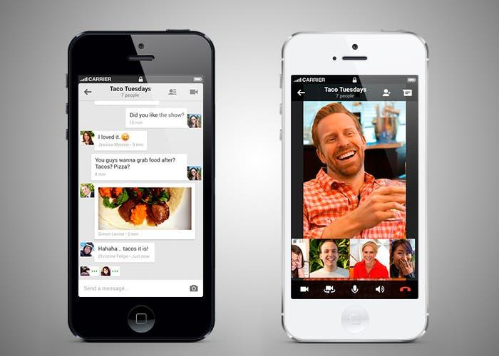 Google Hangouts para iPhone 5