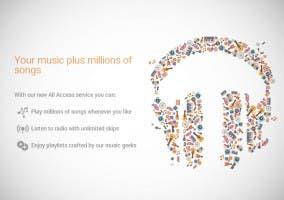 Características de Google Play Music All Access