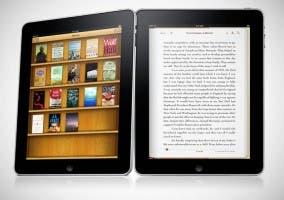 Imagen de la biblioteca y libro en iBooks para el iPad