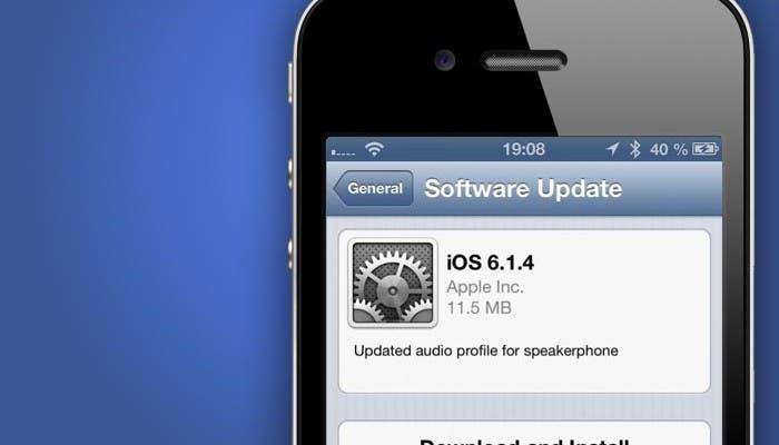 Actualización de iOS 6.1.4