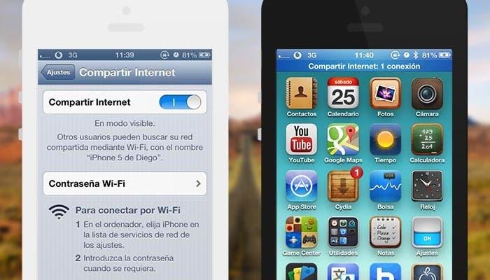 Compartiendo Internet desde iOS