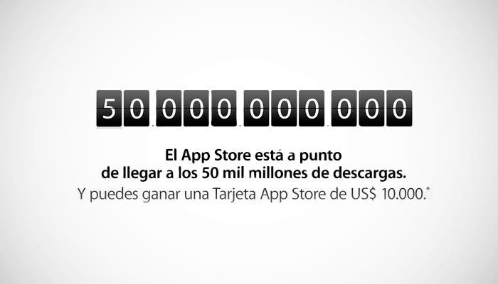 App Store llega a las 50 mil millones de descargas