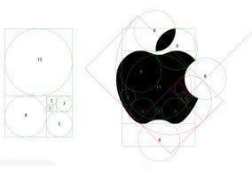 El logo de Apple y el número áureo