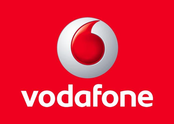 Logo de Vodafone en rojo