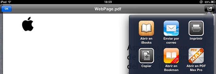 Abrir con de Mail para enlazar a iBooks
