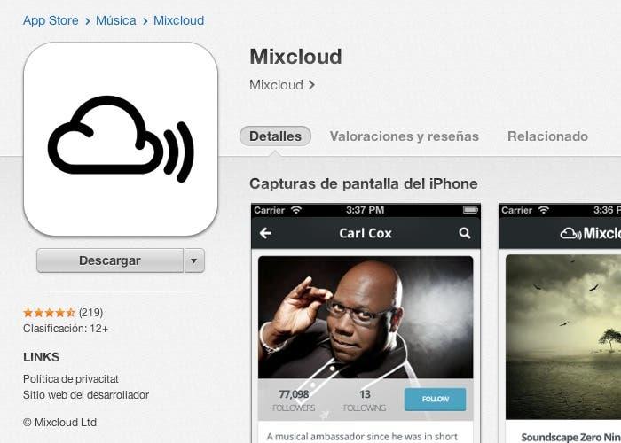 Actualización de Mixcloud para iPhone